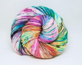 """Acoustic Sock Yarn - """"Bitchin!"""" - Handpainted Superwash Merino - 400 Yards"""