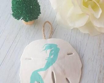 Handpainted Sand Dollar Ornament - Original   FREE SHIPPING