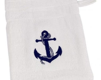 Fluffy washcloth, washcloth- cotton- maritime*