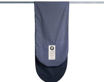 Surfboard Bag in Blue and Black - Surf Sock with Zipper Closure and Wax Repellent Interior Lining