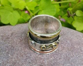 Spinner Rings,Fidget Rings, Worry Rings,Thumb Rings,Meditation Rings, Spinning Rings, Festival, Boho Silver Rings,Spin Rings
