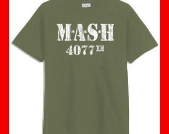 MASH 4077th Distressed warn-out look Military Green T-Shirt