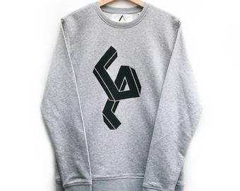 "Hand-printed ""Distorted"" Sweatshirt"