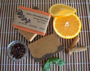 Orange Cinnamon Natural Handmade Soap, Beer Soap, Homemade, Vegan soap, Scented soap, Orange soap, Cinnamon soap, Organic Beer, Bar Soap