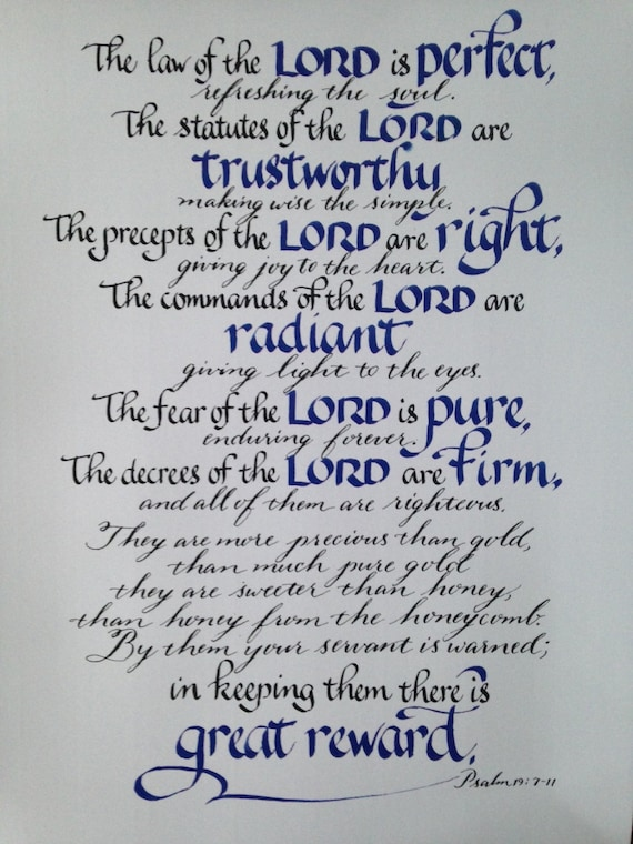 Scripture Art Psalm 19 7 11 Bible Verses Pastor