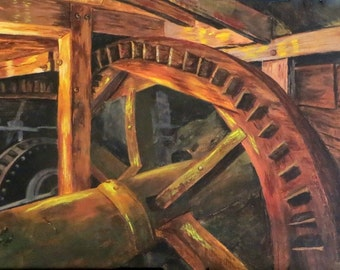 The Old Grist Mill, Limited Edition Giclee', Fine Art, Home Decor, Rustic
