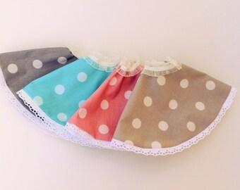 PATTERN  , Skirt , the  doll skirt , handmade,soft doll skirt ,fabric doll skirt