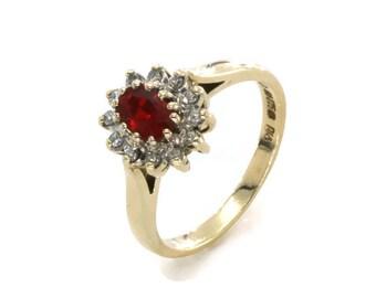 Ruby Diamond Ring, Gold Ruby Ring, Gold Diamond Ring, Vintage Ruby Ring, Gold Rings Women, Vintage Gold Ring, Gold Ruby Ring, Diamond Rings
