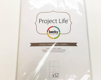Project Life Design J Pocket Pages