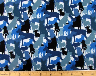 Dog Breeds Fabric From Elizabeth's Studio By the Yard