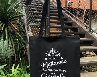 Tote Bag too great teacher - teacher gift - bag - great teacher - teacher thank you teacher