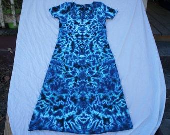 Beautiful Blues Tie Dye Dress Choose Size S - 3X
