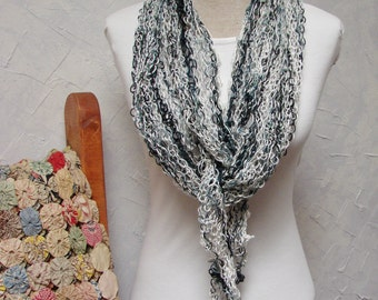 Pattern For Hand Knit Shawl, Knit at a Loose Gauge for a Fabulous Drape, Looks Like Lace Shawl Pattern