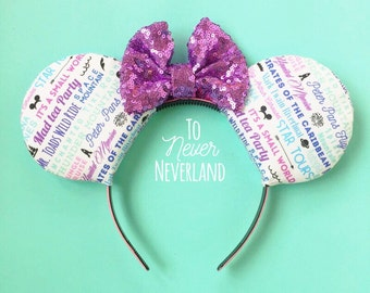 Disney Rides Mickey Ears, Disneyland Rides Ears, Disney Inspired Minnie Ears, Mickey Mouse Ears, Rides Mickey Ears Headband, Disney Rides