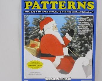 Seated Santa Wood Craft Pattern