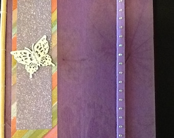 Handmade Purple Journal-Journal with Butterfly