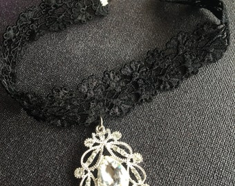STARDUST necklace collarino gothic style victorian, choker