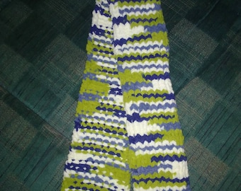 Variegated Knitted Scarf- works as children's or as an adult's