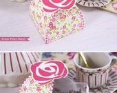 Rose Favor Box Printable,...