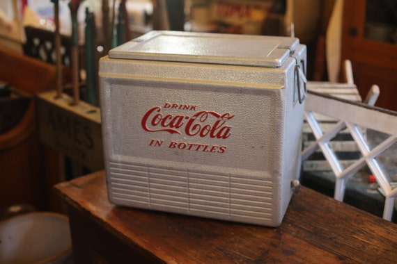 Coca-Cola Metal Ice Chest with Original Tray