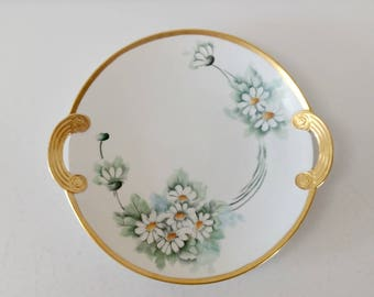 Hand Painted Serving Tray / Plate / Made in Japan / Floral / Daisy / Bridal Shower / Baby Shower / Floral Platter