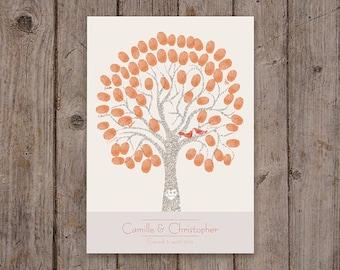 Fingerprint wedding tree / A3 297x420mm / 50-70 signatures