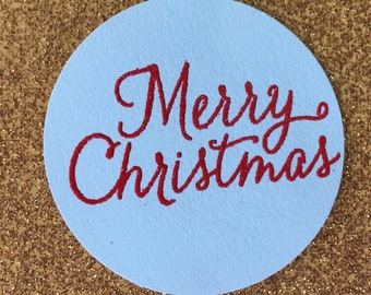Merry Christmas Embossed Gift Tag (Set of 5)