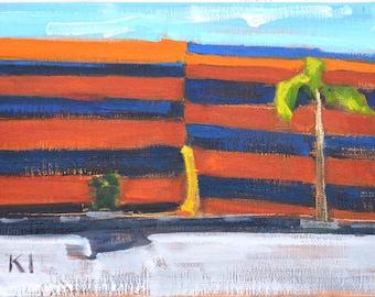 Termite Tent Painting, San Diego Landscape