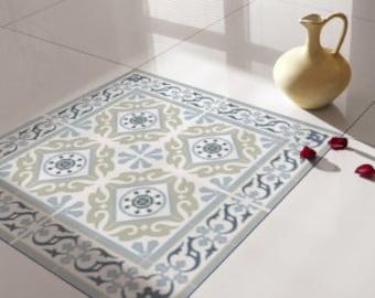 Traditional Tiles - Floor Tiles - Floor Vinyl - Tile Stickers - Tile Decals - bathroom tile decal - kitchen tile decal - 212