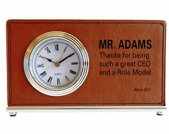 Gift for CEO and Role Model - Gifts for Director - Manager Gift - Personalized Gift for Boss - Desk Clock, LB005