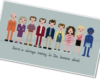 Arrested Development - The *Original* Pixel People - PDF Cross-stitch Pattern - INSTANT DOWNLOAD