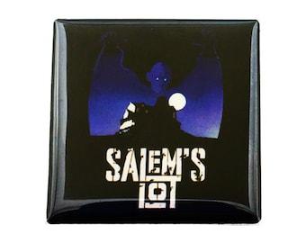"""Salems Lot Magnet Stephin King Magnet Barlow Magnet Vampire Magnet 1.5 inch Magnet 1.5"""" Square Magnet"""