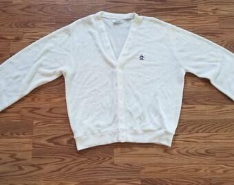 Grand Slam Vintage 80's Button Down Cardigan Large
