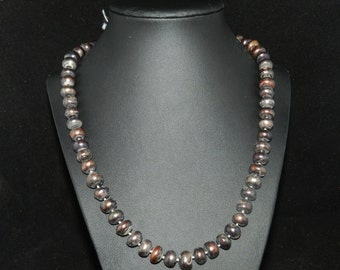 FT679 Chunky Warm Tone Pearl Necklace  20in
