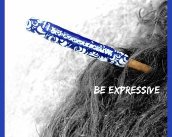 Vishuddha Hair Stick Empowerment Hair Stick Reiki Hair Stick Custom Hair Stick Etchythings and Accents