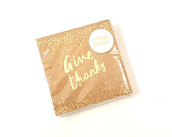 Meri Meri thanksgiving napkins. Friendsgiving plates. Friendsgiving decor. Friendsgiving tableware. Kraft with gold napkins. Harvest plates