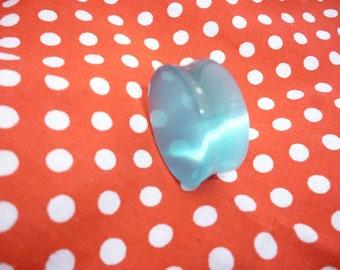 Blue Cats eye  Ear Plug Tunnel  25mm 15mm  - hypo allergenic  Double Flare skater wear