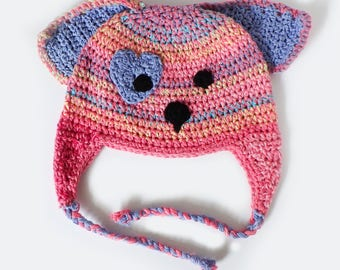 Custom Puppy Dog Earflap Hat - Made to Order!