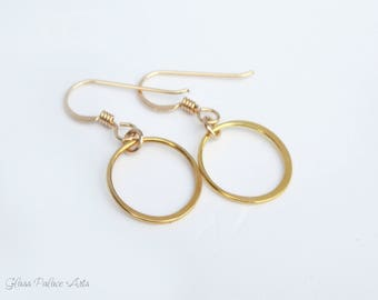 Infinity Circle Earrings, Small Hoop Earrings Sterling Silver, Simple Everyday Tiny Hoops, Small Circle Jewelry, Rose Gold
