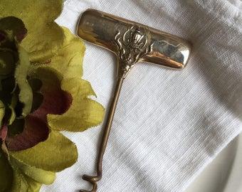Brass Wine Bottle Opener Johny's Gems Thailand Corkscrew Metal Bartender Vintage Bar Tool - #H1097
