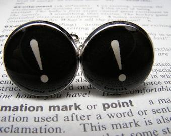 Exclamation Mark Cufflinks - Gift for Men - Custom Cufflinks - Grad Jewellery - Mens Accessories - Grad Cufflinks - Cuff Link Accessories