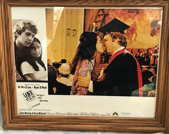 """Lobby Card from """"Love Story"""" with Ali McGraw and Ryan O'Neal"""