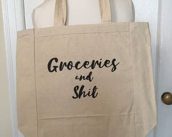 Funny Reuseable Grocery Tote