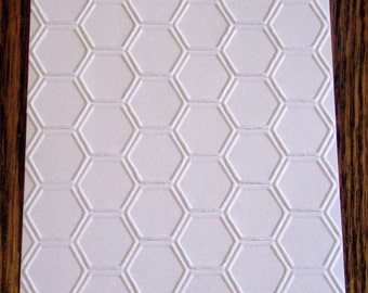 HONEYCOMB Embossed Card Stock Panels Perfect for Scrapbooking and Card Making - Set of 12