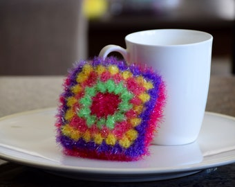 Polyester dish scrubby cloth, Crochet Kitchen dish cloth, Dish cloth, House Warming Gift