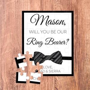 ring bearer puzzle / ring bearer / ring bearer gift / ring bearer proposal / puzzle / ask ring bearer / ring bearer card / will you be our