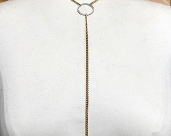Amethyst Y Necklace