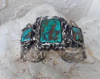 Turquoise Cuff~Native American Jewelry-western Fashions~Navajo Jewelry~ Indian Bracelets