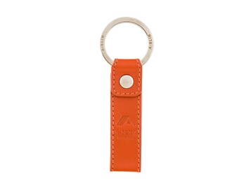 Leather Keyring   keychain   key fob - Volcano Orange - A-SLIM - Sora 62716d9775dd