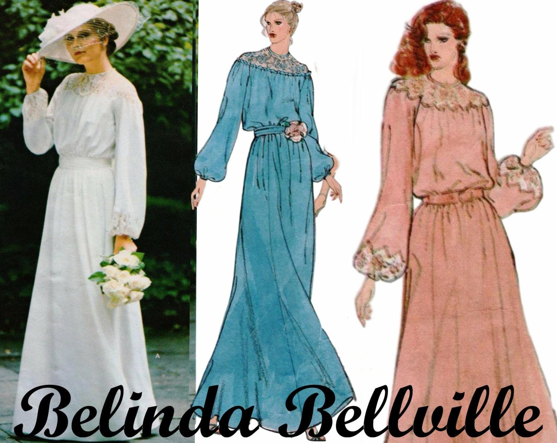 Modest Wedding Dress Long Sleeve Wedding Gown Pattern VOGUE
